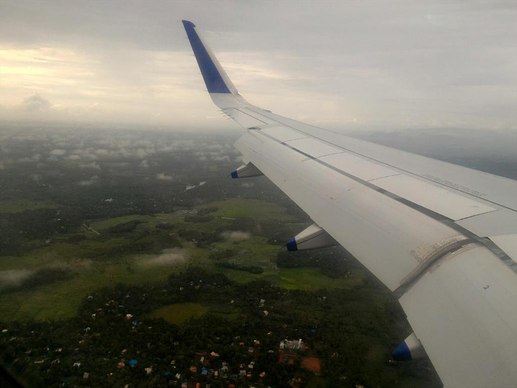 Aerial view of Kochi from the Aeroplane