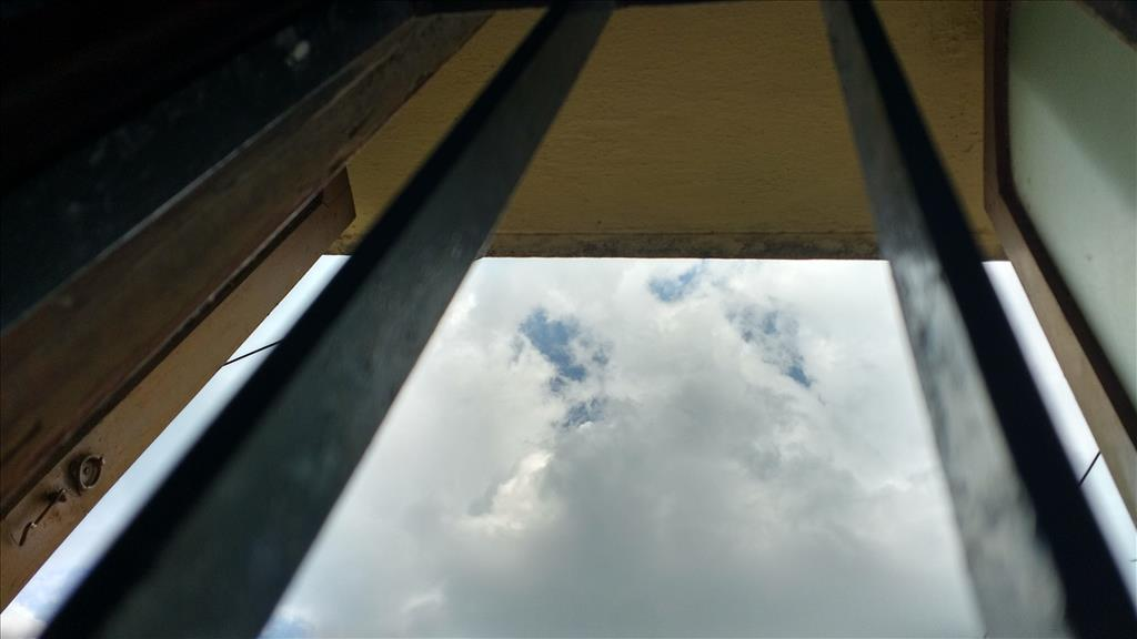 Clouds through windows