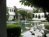 Taj Lake Palace Udaipur- Inner garden with a pond