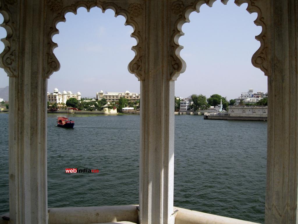 Lake Pichola viewed from Hotel Taj Lake Palace, Udaipur