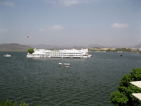 Taj Lake Palace View from City Palace, Udaipur