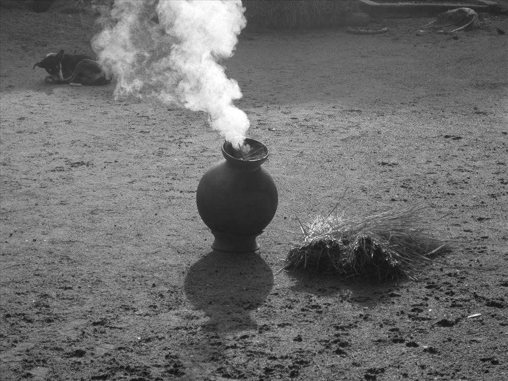 the rising fumes
