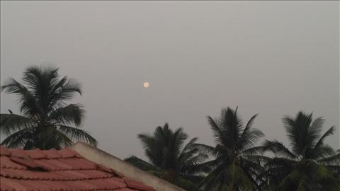 Moon in morning