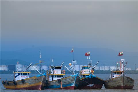 Boats in Mumbai Harbour