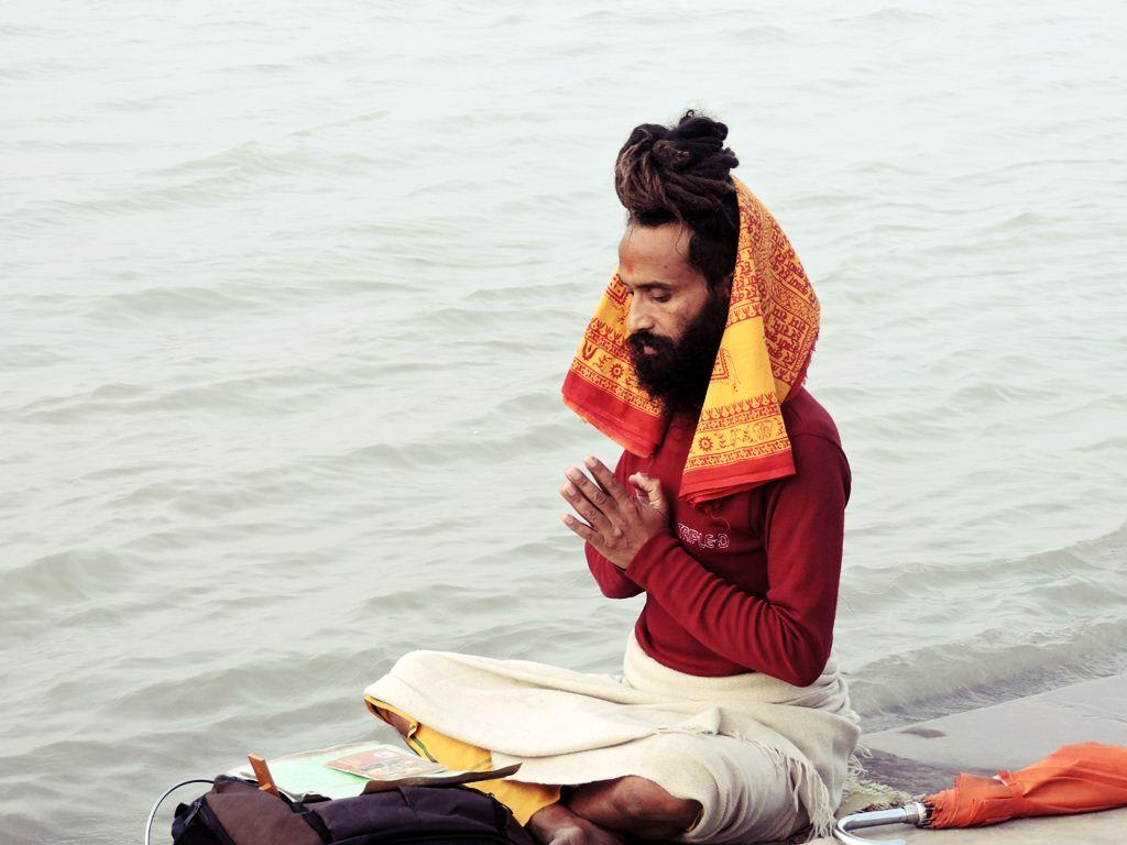 Yoga at Holy Ganges Early Morning