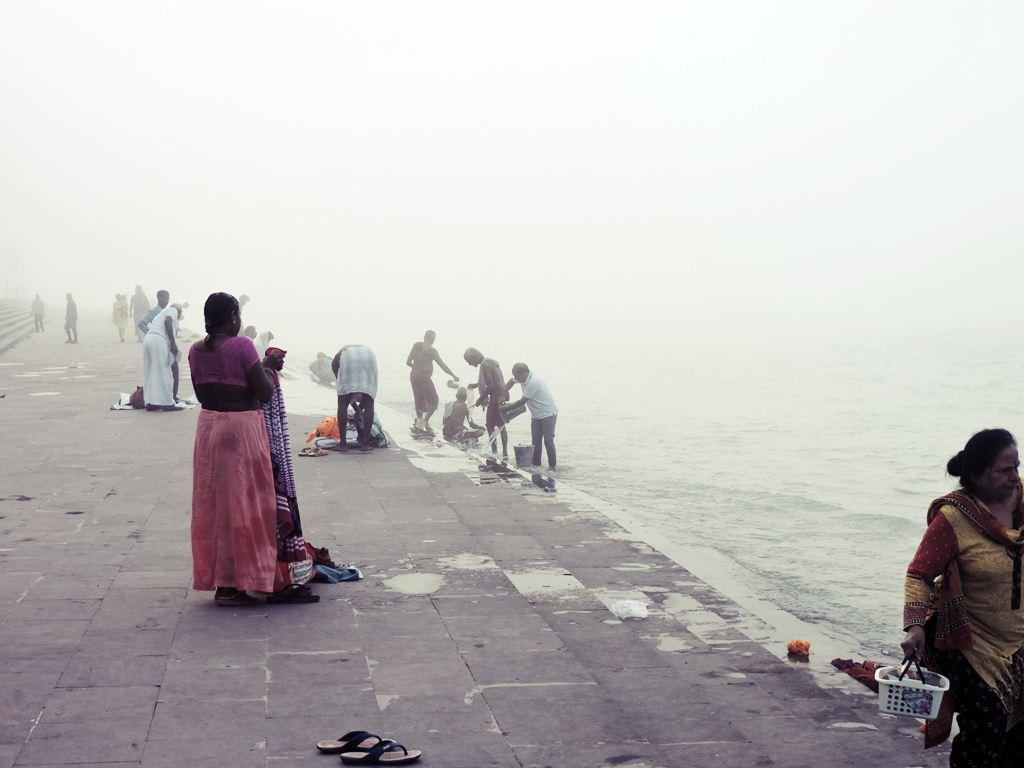 Morning dip at the Holy Ganges