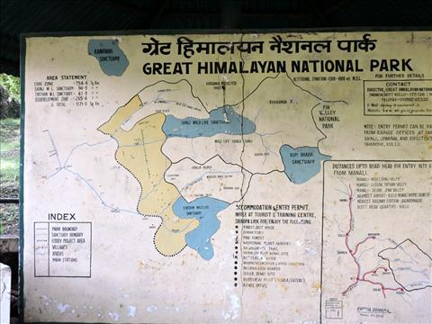 Map, The Great Himalayan National Park