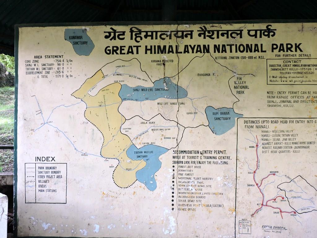Map, The Great Himalayan National Park