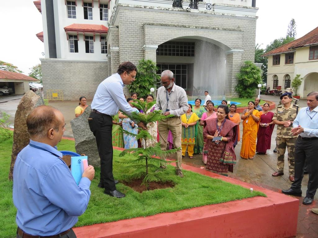Planting of saplings in the Port area, on the occasion of World Environment Day.