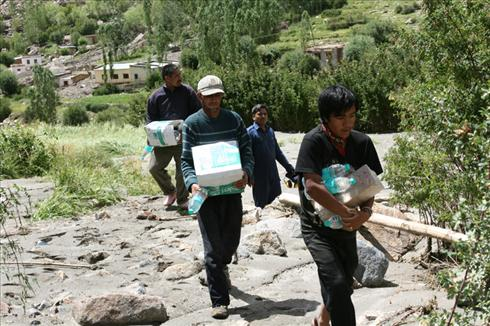 Rescue and relief operations at Leh