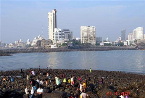 View from Haji ali Dargah, Mumbai