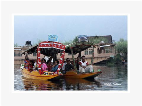 Tourists Enjoying at Dal Lake