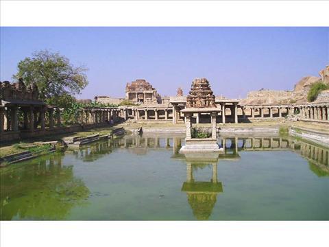 Shiva Pond and Bazaar