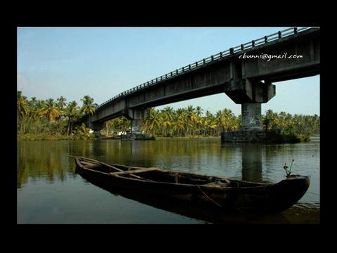 A River Bridge in Kerala
