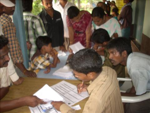 AADAR CARDS DISTRIBUTION