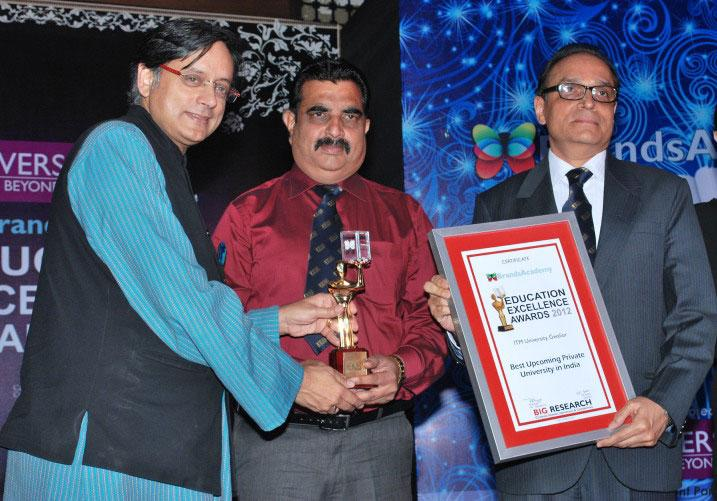 Dr. Shashi Tharoor gives away Education Excellence